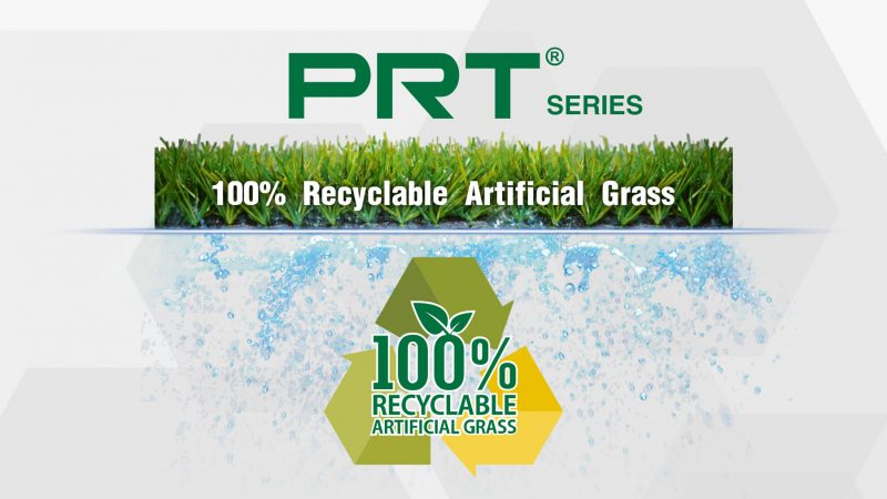 La Serie de PRT, 100% reciclable césped artificial