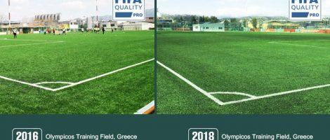 Comentario de nuestro campo de FIFA Quality Pro- la Cancha de Entrenamiento de Olympicos, Grecia
