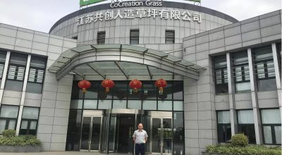 La visita de Jamie Forrester a CCGrass de China