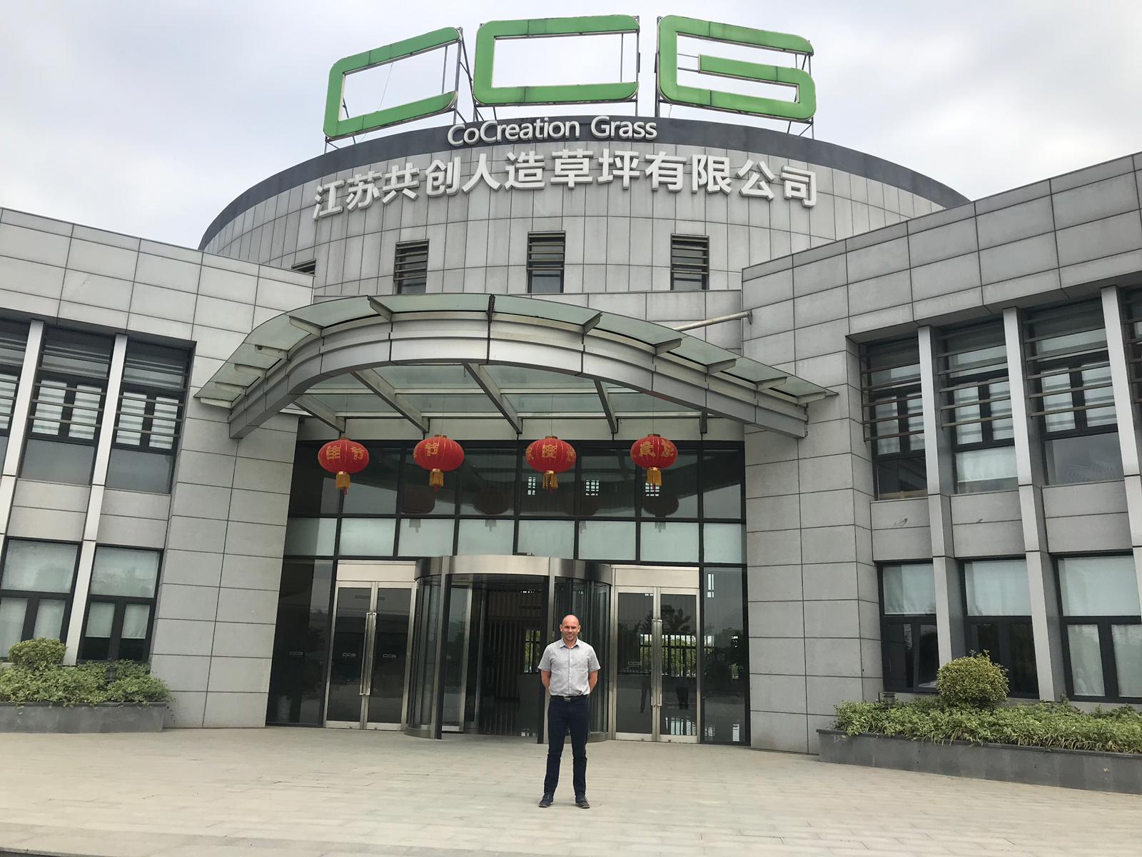 La visite de Jamie Forrester à CCGrass en Chine