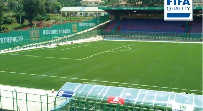 CCGrass a arrivé à fournir un terrain avec FIFA Qualité à SainteMarie Stade en Ougada