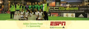 ccgrass artificial grass manufacturer Adidas Extreme Power 5'S Sponsors By ESPN