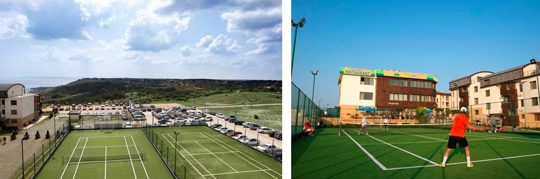 Attractive artificial grass for tennis
