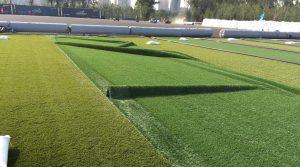 ccgrass artificial grass FIFA pro football field installation