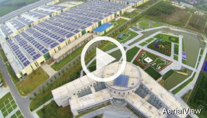 AerialView ccgrass Synthetic-turf manufacturer factory tour