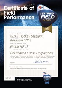 FIH global Field Certificate ccgrass artificial grass manufacturer FIH Preferred Supplier
