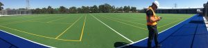 ccgrass Synthetic-turf FIFA certificate football -field installation