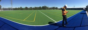 ccgrass Synthetic-turf fih certificate football -field installation