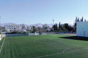 CCGrass artificial grass football FIFA field Ayios-Dometios-Municipal-Stadium,-Cyprus