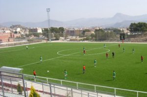 CCGrass artificial grass football FIFA field Camp-de-Sports-de-Santa-Barbara,-Spain