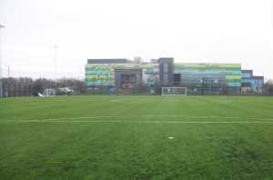 CCGrass artificial grass football FIFA field Orford-Park-Community-Sports-Hub,-UK