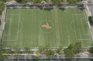 CCGrass artificial grass football FIFA field Unidad-Deportiva-Andres-Escobar,-Colombia