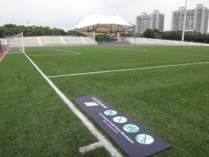 ccgrass Synthetic-turf FIFA certificate football -field XINZHUANG TRACK AND FIELD RENOVATIONS