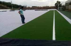 ccgrass-installation sports artificial grass manufacturer Synthetic-turf-field National Stadium in Nicaragua-1