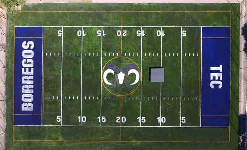 CCGrass artificial grass manufacturer New American Football Field Monterey