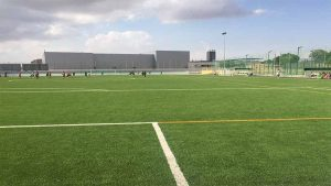 ccgrass Synthetic-turf football -field New Football Pitch for Lopez Belmonte Stadium