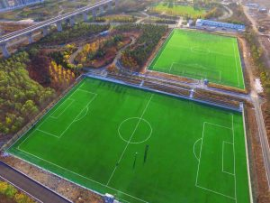 ccgrass Synthetic-turf FIFA certificate football -field DALIANWAN OLD FISHERMAN FOOTBALL STADIUM OF CHINA