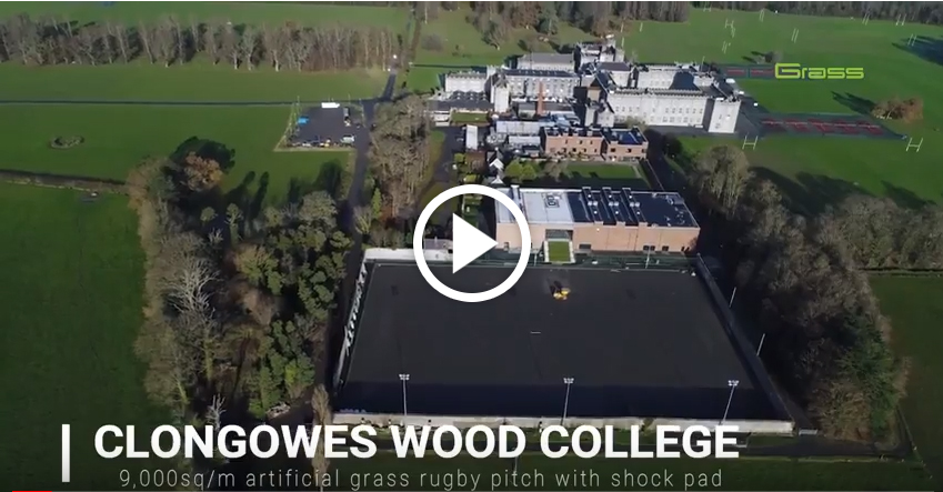 ccgrass artificial grass manufacturer World-Rugby field Clongowes Wood College, Ireland
