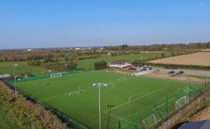 CCGrass artificial grass factory FIFA Quality football field Ballyoulster Fc, UK