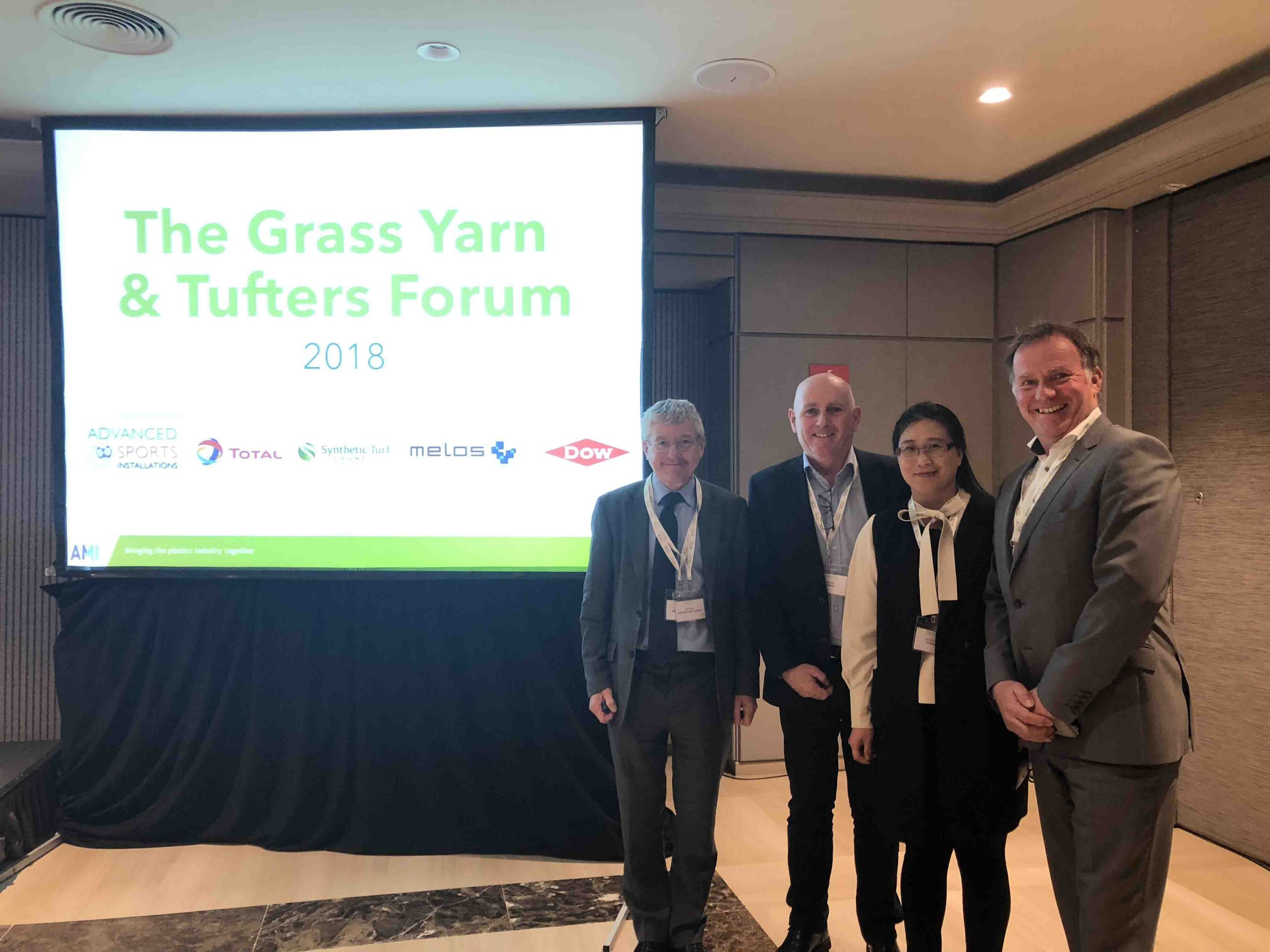 CCGrass artificial grass manufacturer at AMI Grass Yarn & Tufters Forum 2018 Barcelona