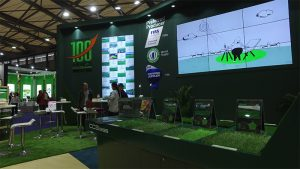 CCGrass artificial grass manufacturer production lines and leading R&D technologies DOMOTEX asia/CHINAFLOOR 2018
