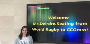 ccgrass artificial grass factory World Rugby Preferred Turf Producer Technical Services Coordinator