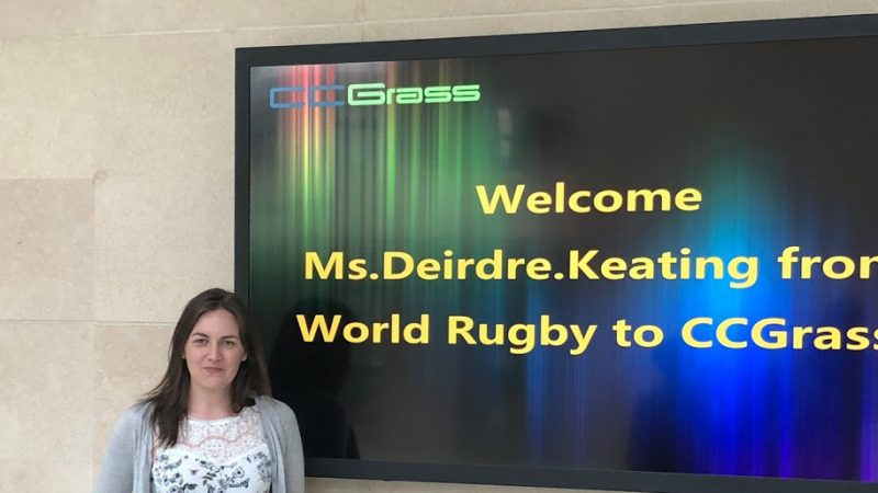 World Rugby visit CCGrass