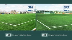 CCGrass Olympiacos training FIFA pro certificate football field-artificial grass manufacturer olympiacos training