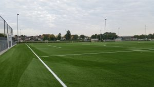 CCGrass artificial grass factory Supplies New Football Pitch to Maastricht