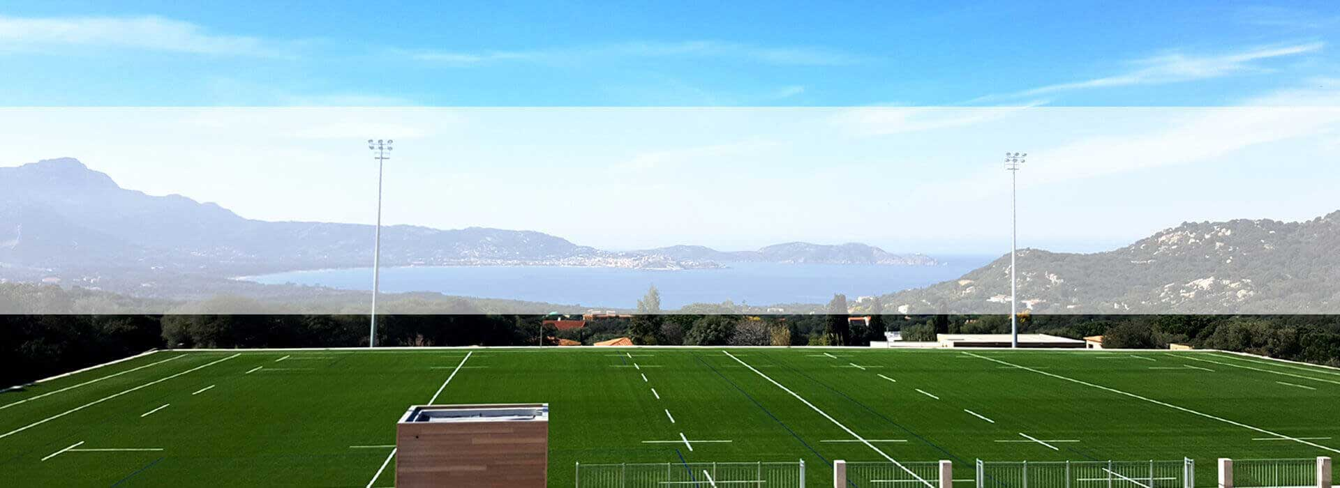 ccgrass Artificial-turf-high playing performance rugby field Stade Municipal, France
