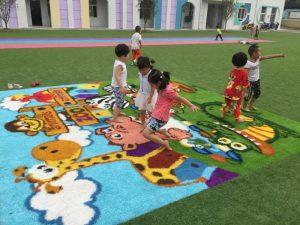 CCGrass art artificial grass for playground