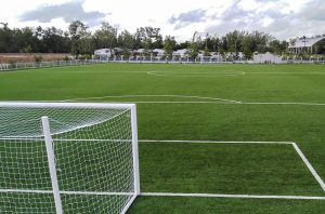 artificial football turf FIFA field PRT 100% recyclable Trang Sports School Thailand
