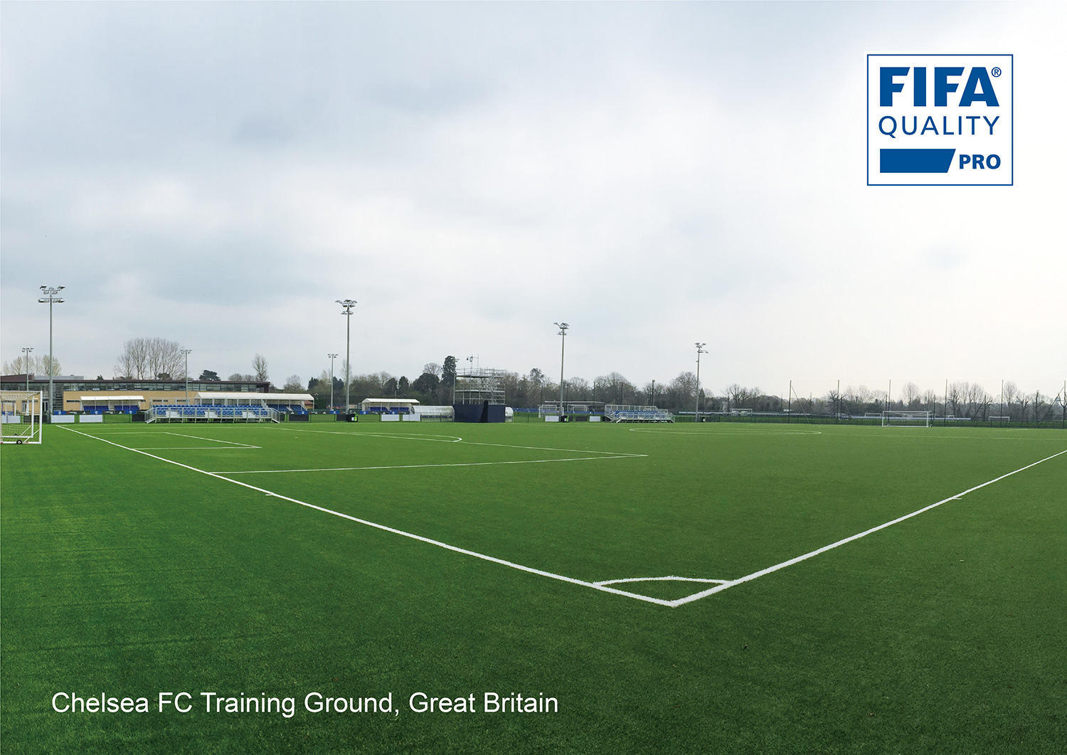 CCGrass artificial grass manucturer FIFA pro field Chelsea FC Training Ground, Great Britain