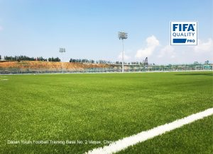 CCGrass artificial grass factory FIFA pro quality football field Dalian Youth Football Training Base No.2 Venue