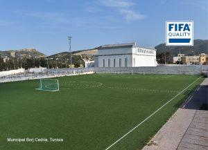 CCGrass artificial grass factory FIFA quality football field Municipal Borj Cedria TUNIGOAL