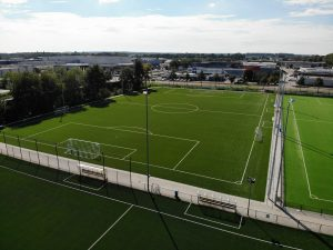 CCGrass artificial grass factory FIFA quality pro football field Sport park Weidesteen field 4