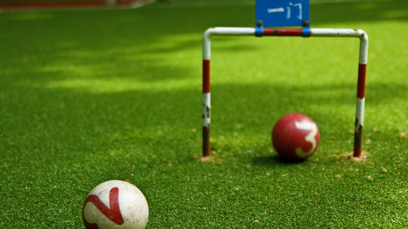 Characteristics of artificial grass for gate ball field