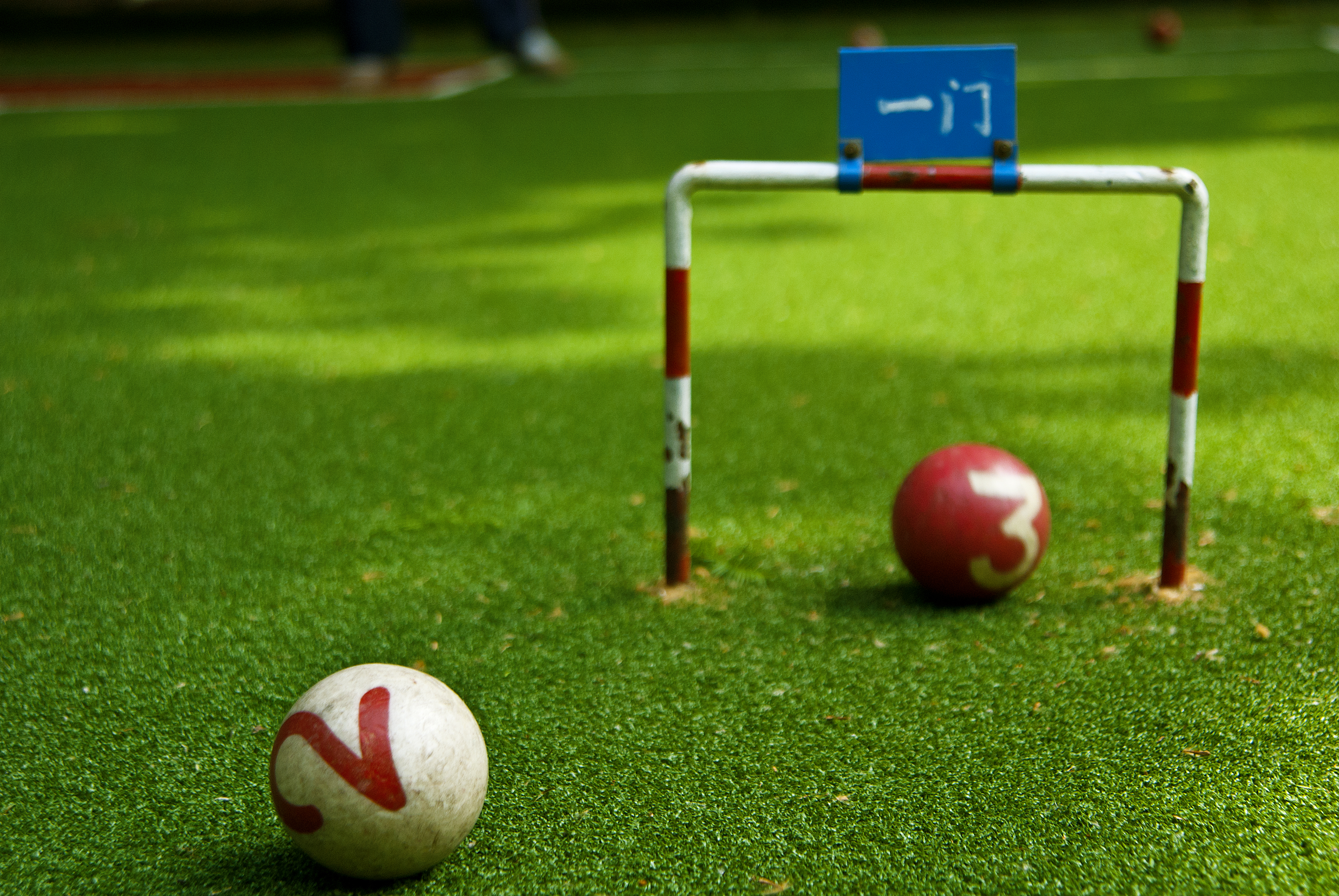Characteristics of artificial grass for gate ball field