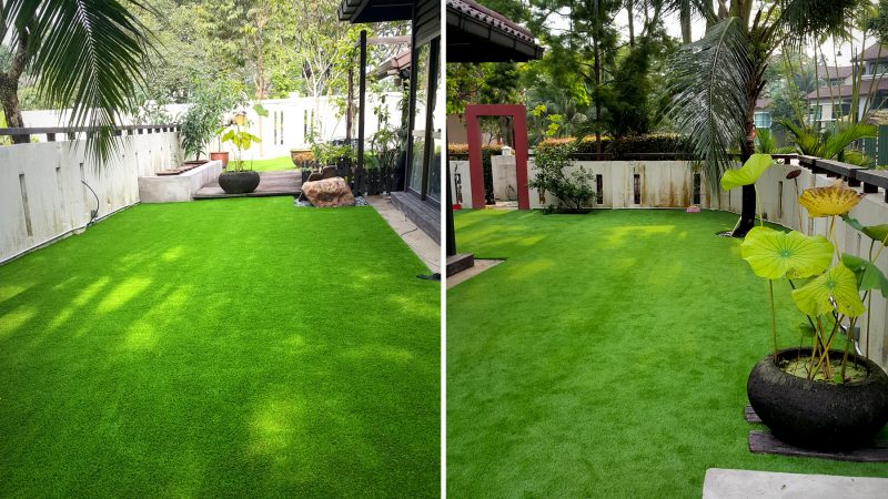 Artificial grass for landscape or decoration