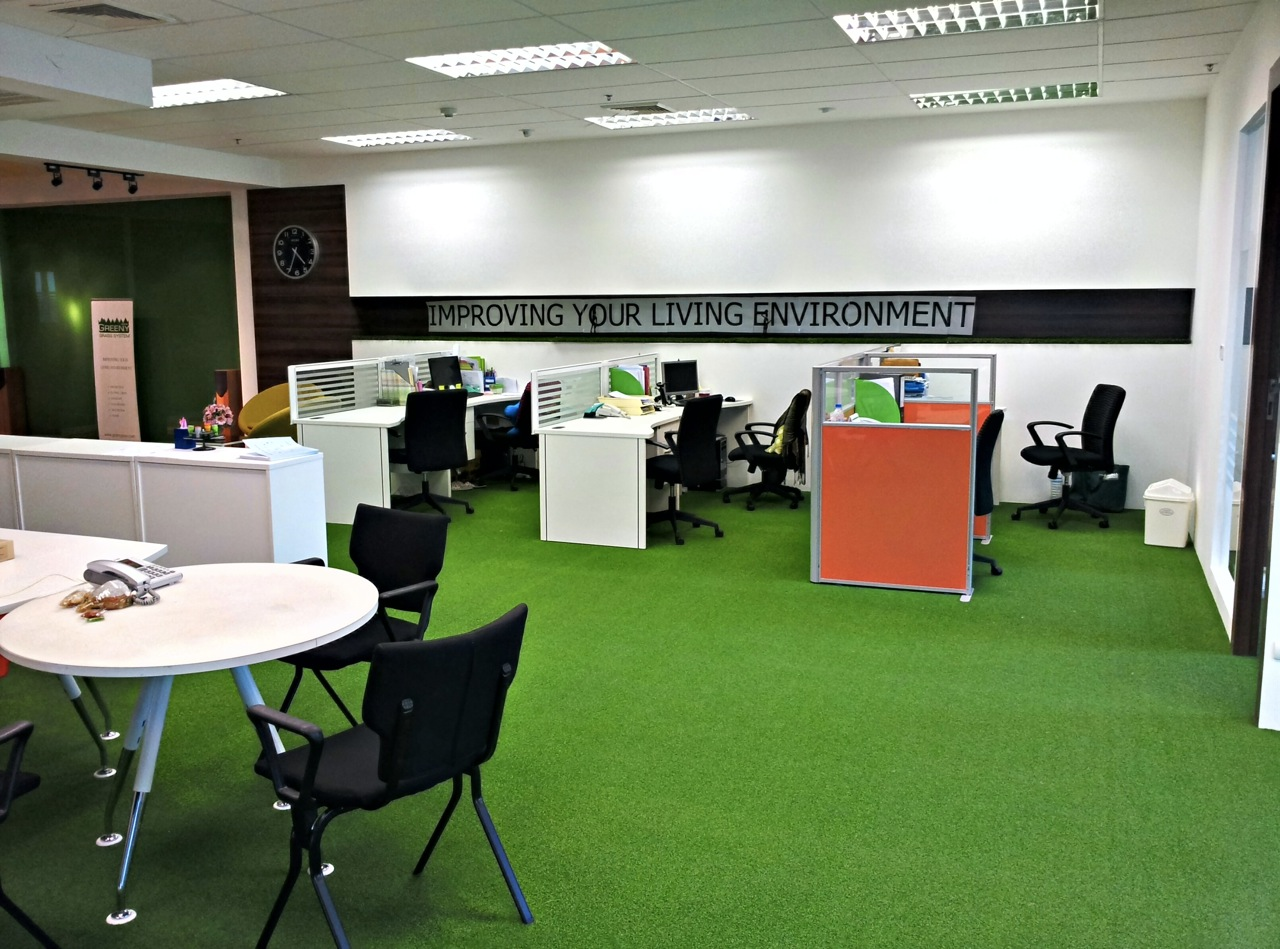 How to choose artificial grass lawn for your office