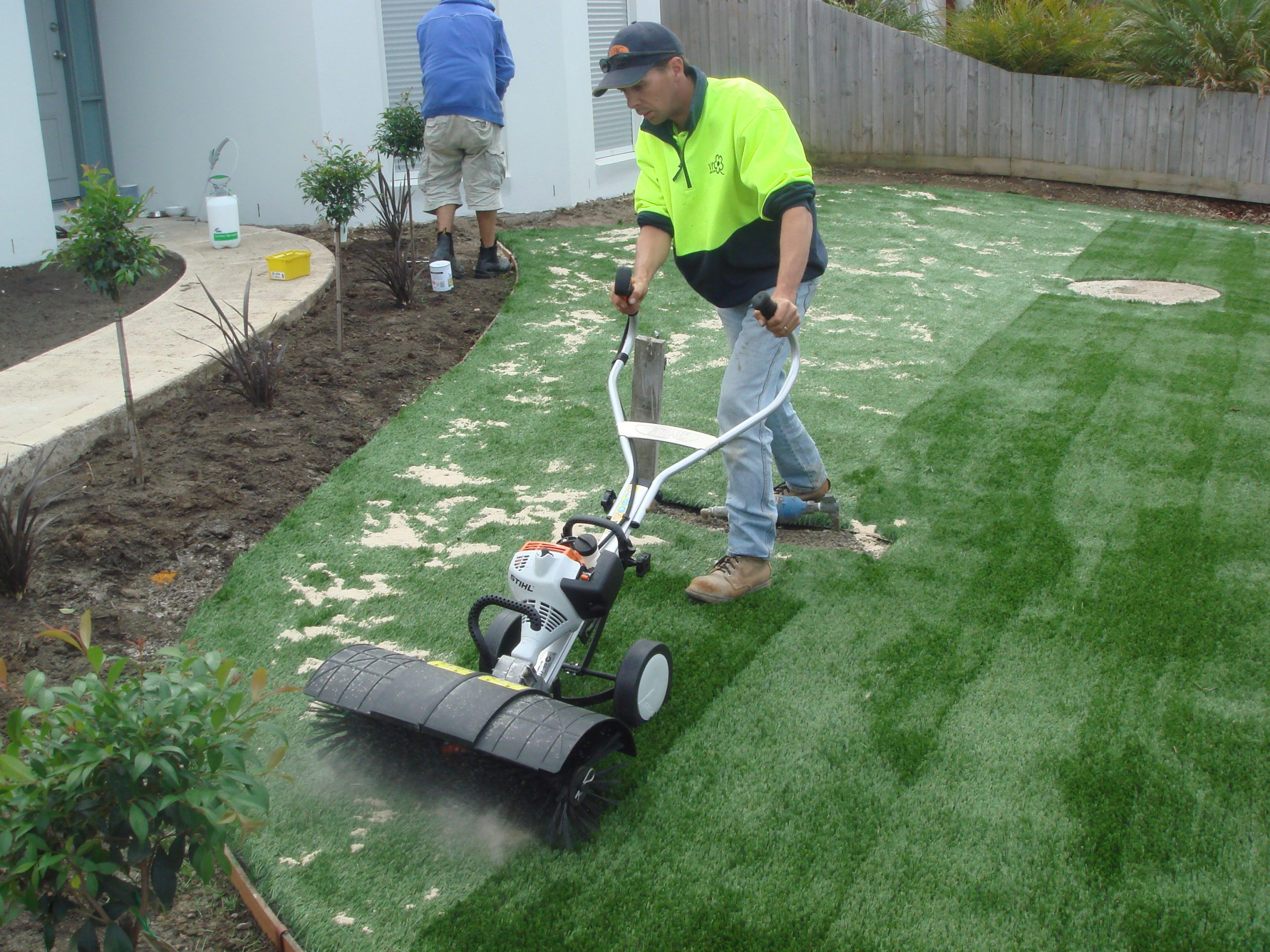 How to renovate artificial grass fields