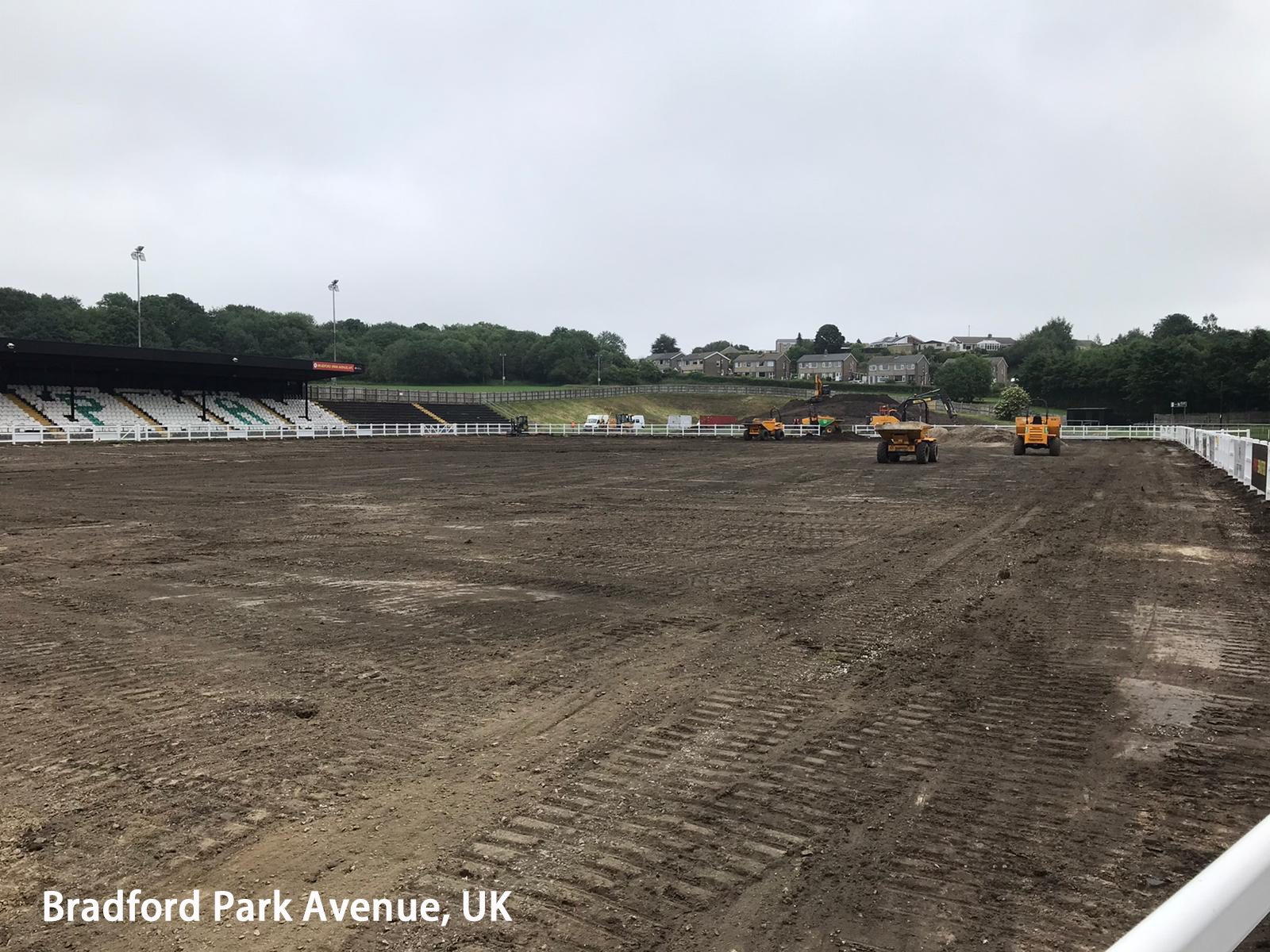CCGrass has begun working at Bradford Park Avenue (2)