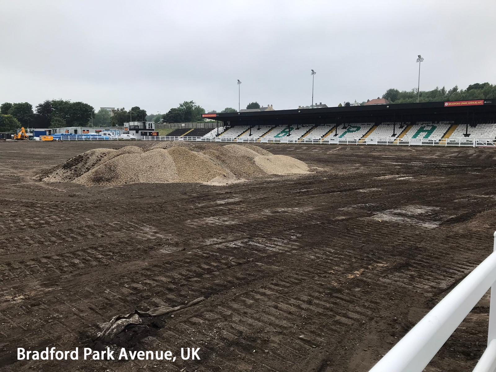 CCGrass has begun working at Bradford Park Avenue