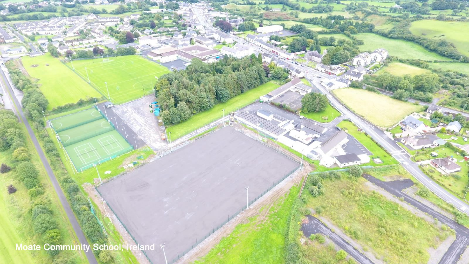 Moate Community School pitch is ready to be filled 2