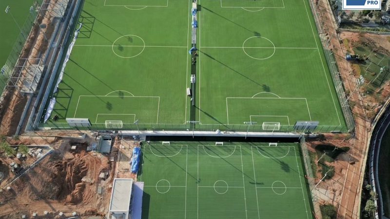 Four football pitches in Shenzhen Youth Football Training Base, China, have passed FIFA certification