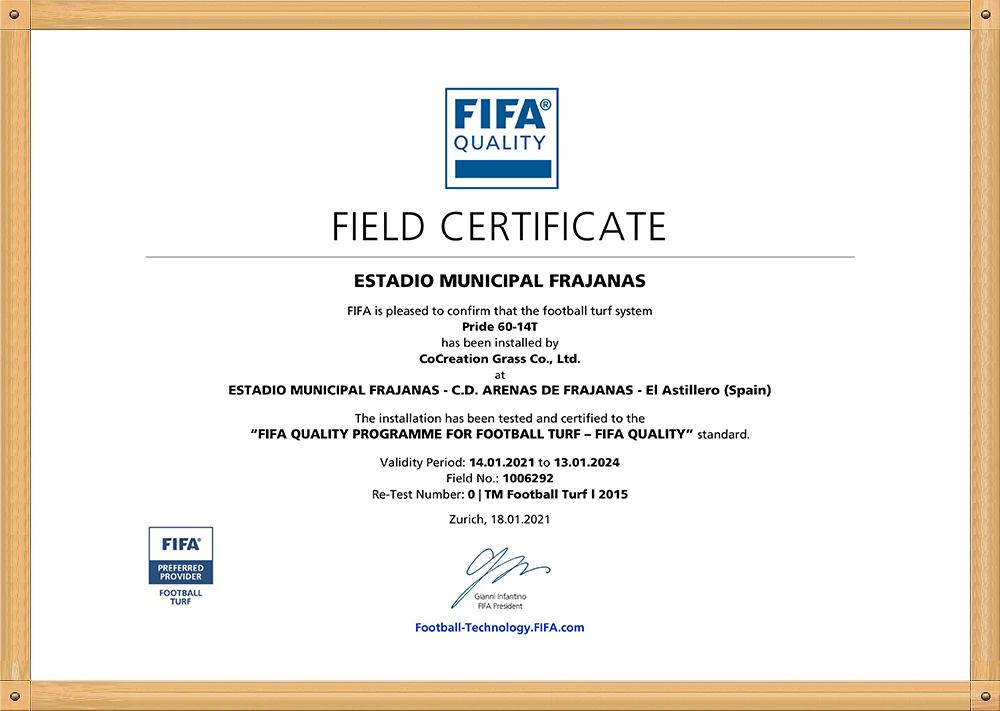 field certificate