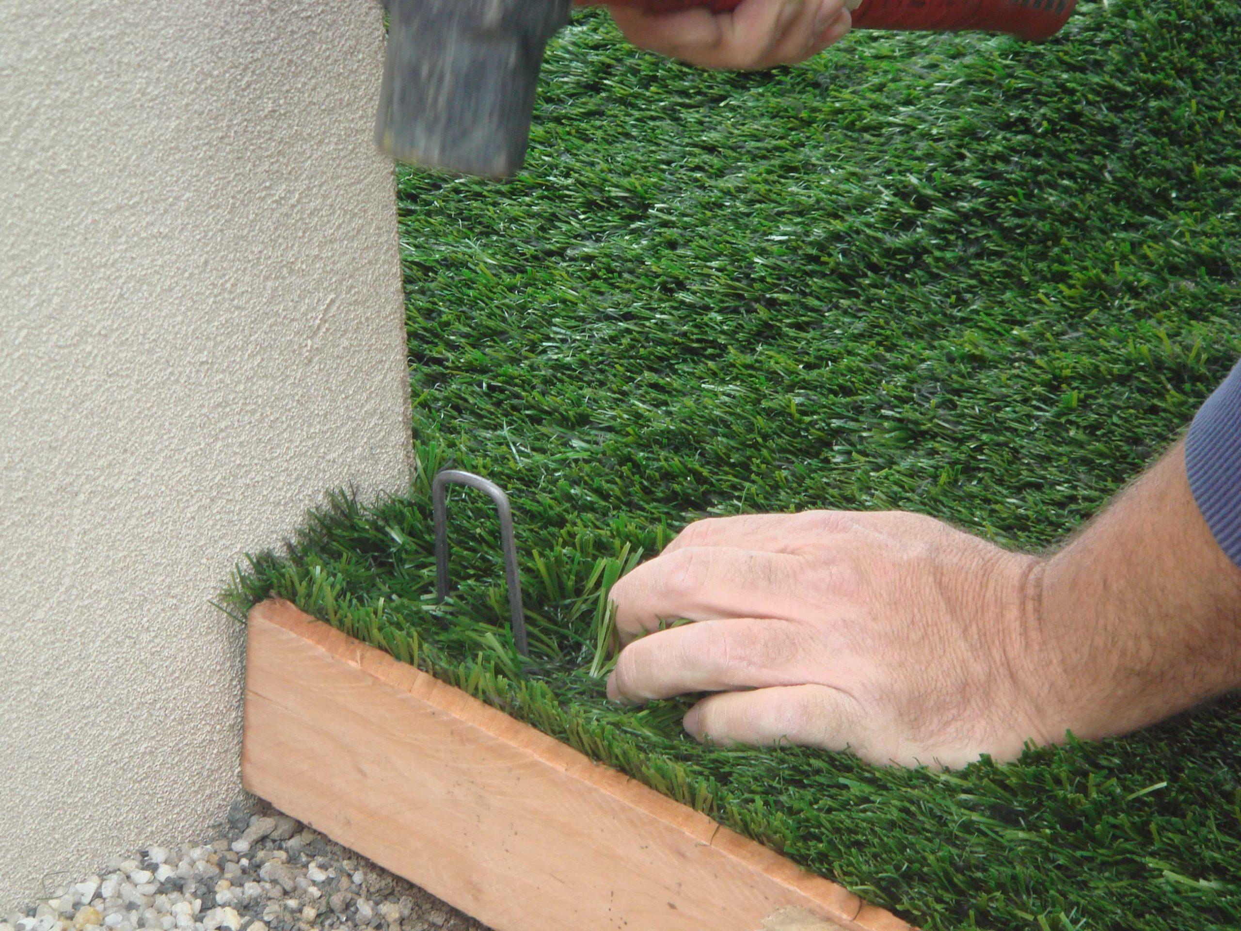CCGrass, artificial grass installation, pin perimeters