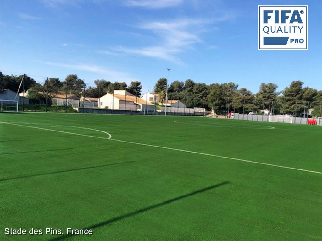 CCGrass, football field, France, FIFA certificate
