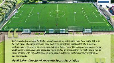 Great Feedback from Keyworth United Community Football Club