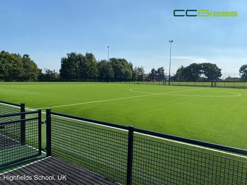 CCGrass, football field, Highfields School